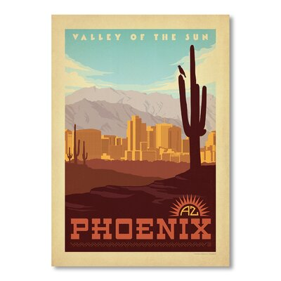 Americanflat Phoenix by Anderson Design Group Vintage Advertisement Wrapped on Canvas