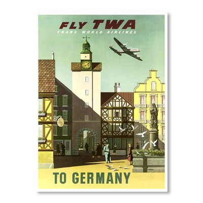 Americanflat Travel Germany by Chad Hyde Vintage Advertisement Wrapped on Canvas
