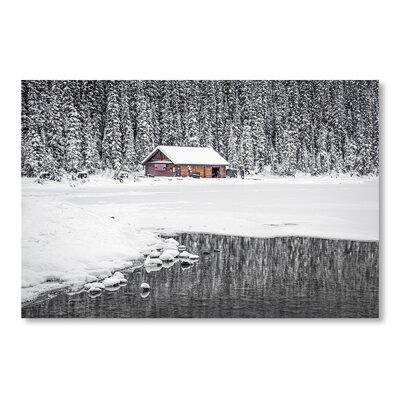Americanflat Snow Forest by Lina Kremsdorf Photographic Print in Grey