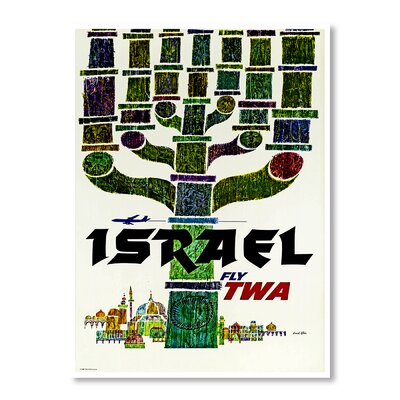Americanflat Travel Israel by Chad Hyde Vintage Advertisement in Green