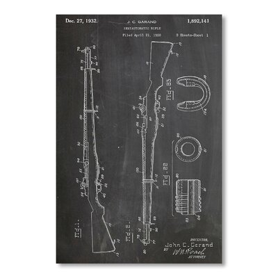Americanflat M1 Rifle by House of Borders Graphic Art in Grey