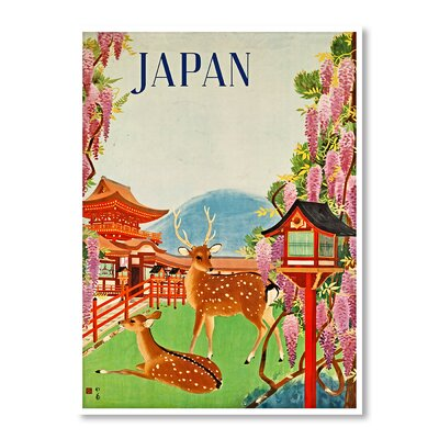 Americanflat Travel Japan by Chad Hyde Vintage Advertisement on Canvas