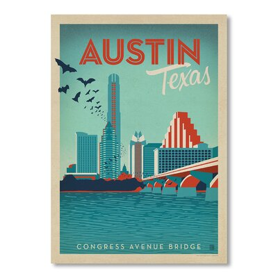 Americanflat Austin by Anderson Design Group Vintage Advertisement in Blue