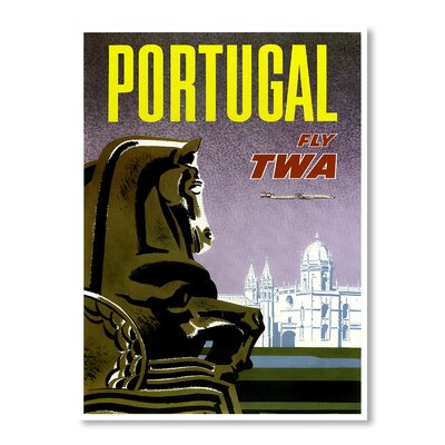 Americanflat Travel Portugal by Chad Hyde Vintage Advertisement Wrapped on Canvas