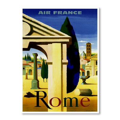 Americanflat Travel Rome by Chad Hyde Graphic Art on Canvas