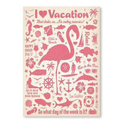 Americanflat Flamingo Pattern Print by Anderson Design Group Graphic Art in Pink