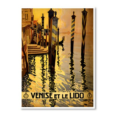 Americanflat Venice by Chad Hyde Vintage Advertisement Wrapped on Canvas