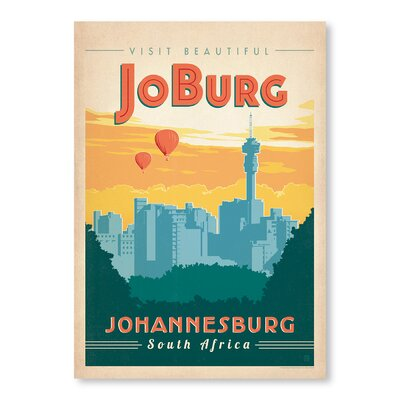 Americanflat Johannesburg by Anderson Design Group Vintage Advertisement Wrapped on Canvas