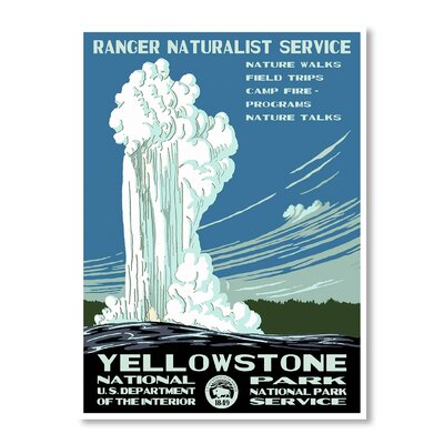 Americanflat Yellowstone National Park by Chad Hyde Vintage Advertisement on Canvas