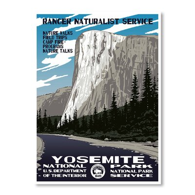 Americanflat Yosemite National Park by Chad Hyde Vintage Advertisement on Canvas