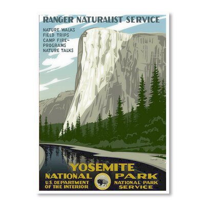 Americanflat Yosemite National Park II by Chad Hyde Vintage Advertisement Wrapped on Canvas