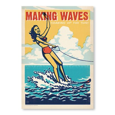 Americanflat Making Waves by Anderson Design Group Graphic Art Wrapped on Canvas