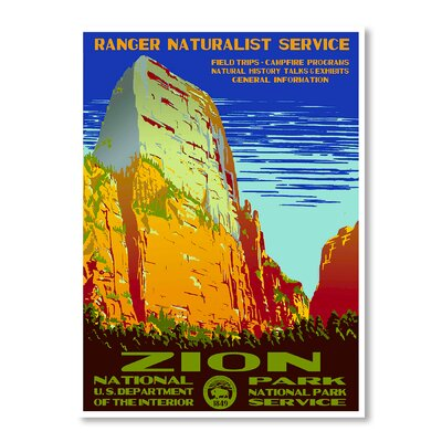 Americanflat Zion National Park by Chad Hyde Vintage Advertisement Wrapped on Canvas