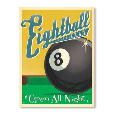 Americanflat Eightball Vintage Advertisement on Canvas