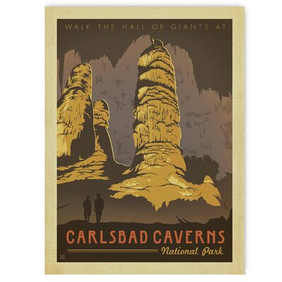 Americanflat Carlsbad by Anderson Vintage Advertisement Wrapped on Canvas