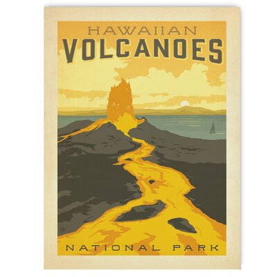 Americanflat Hawaiian Volcanoes by Anderson Design Group Vintage Advertisement Wrapped on Canvas