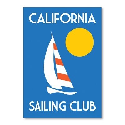 Americanflat California Sailing Club by Alan Walsh Graphic Art in Blue
