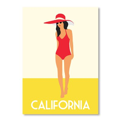 Americanflat California II by Alan Walsh Graphic Art in Yellow