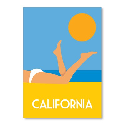 Americanflat California by Alan Walsh Graphic Art in Blue