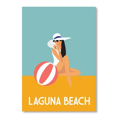 Americanflat Laguna Beach by Alan Walsh Graphic Art Wrapped on Canvas