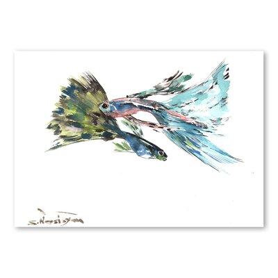 Americanflat Guppy Fish by Suren Nersisyan Art Print