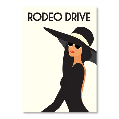 Americanflat Rodeo Drive by Alan Walsh Vintage Advertisement Wrapped on Canvas