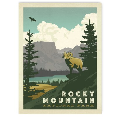 Americanflat Rocky Mountain Vintage Advertisement Wrapped on Canvas