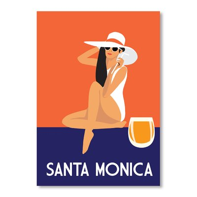Americanflat Santa Monica by Alan Walsh Vintage Advertisement Wrapped on Canvas