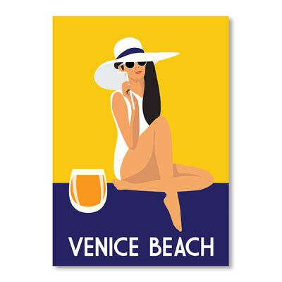 Americanflat Venice Beach by Alan Walsh Vintage Advertisement Wrapped on Canvas