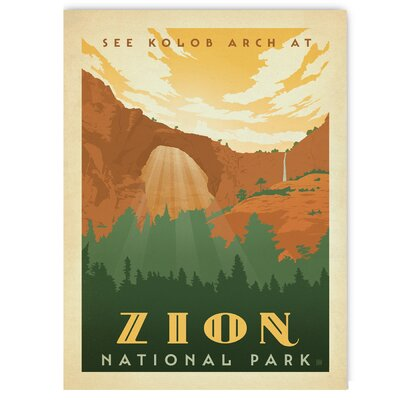 Americanflat Zion by Anderson Design Group Vintage Advertisement Wrapped on Canvas