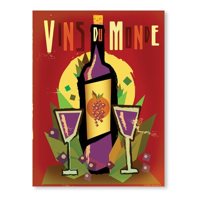Americanflat Vin Du Monde by Diego Patino Vintage Advertisement