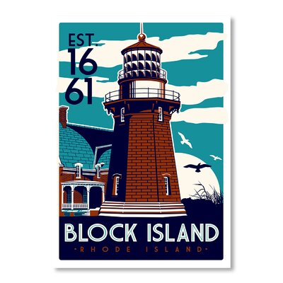 Americanflat Block Island by Matthew Schnepf Vintage Advertisement Wrapped on Canvas