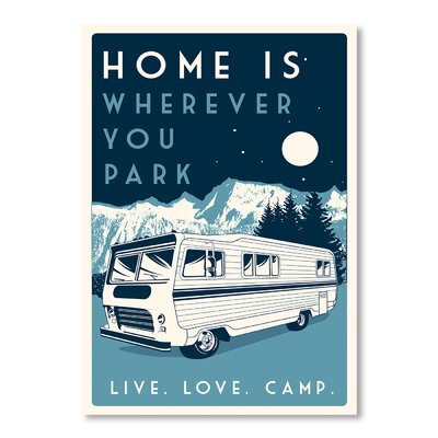 Americanflat Camp by Matthew Schnepf Vintage Advertisement in Blue