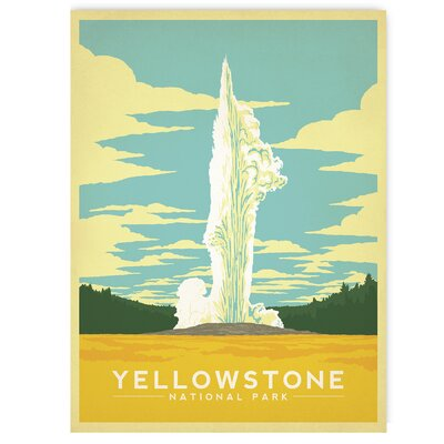 Americanflat Yellowstone by Anderson Design Group Vintage Advertisement Wrapped on Canvas