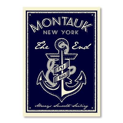 Americanflat Montauk Anchor by Matthew Schnepf Graphic Art Wrapped on Canvas