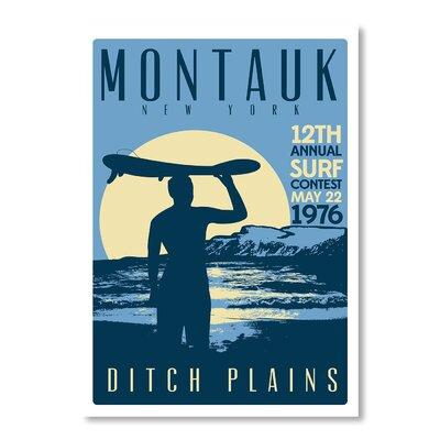 Americanflat Montauk Contest by Matthew Schnepf Vintage Advertisement on Canvas