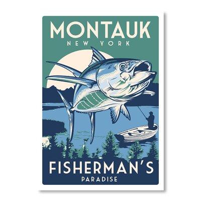 Americanflat Montauk Fish by Matthew Schnepf Vintage Advertisement on Canvas