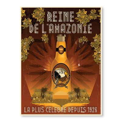 Americanflat Rein de Lamazone by Diego Patino Vintage Advertisement in Brown