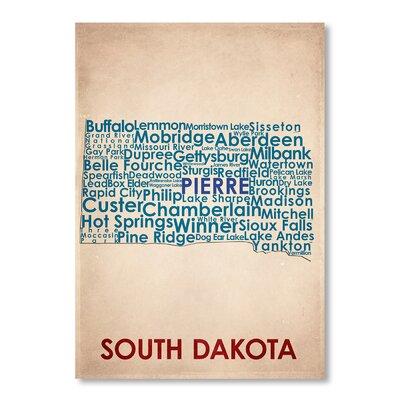 Americanflat South Dakota Typography