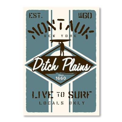 Americanflat Montauk Surf by Matthew Schnepf Vintage Advertisement