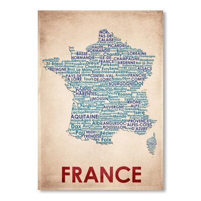 Americanflat France Typography on Canvas