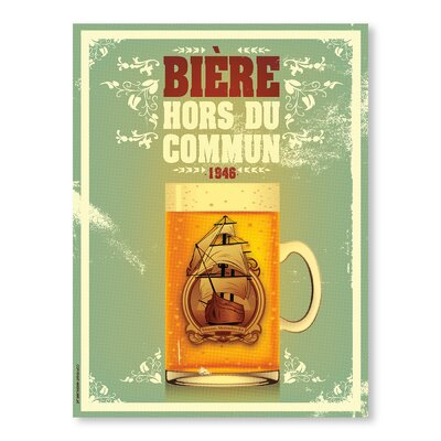 Americanflat Biere Hors du Commun by Diego Patino Vintage Advertisement on Canvas