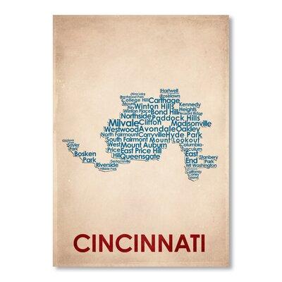 Americanflat Cincinnati Typography on Canvas