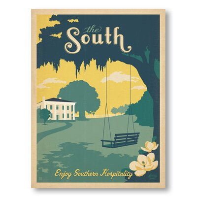 Americanflat The South by Anderson Design Group Vintage Advertisement Wrapped on Canvas