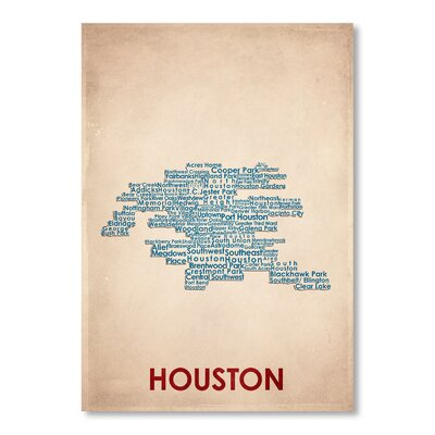 Americanflat Houston Typography Wrapped on Canvas