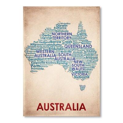 Americanflat Australia Typography on Canvas