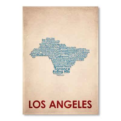 Americanflat Los Angeles Typography Wrapped on Canvas