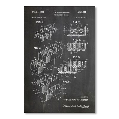 Americanflat Building Block by House of Borders Graphic Art in Grey