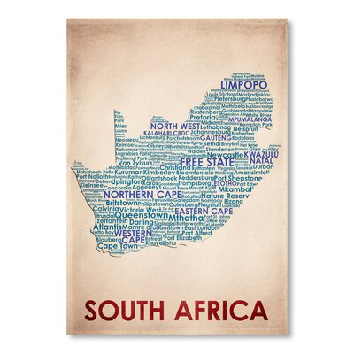 Americanflat South Africa Typography on Canvas