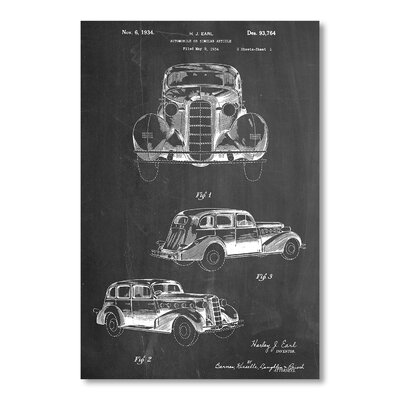 Americanflat Cadillac La Salle 1934 by House of Borders Graphic Art in Grey